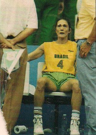 Aos 32 anos, Hortência disputou pela primeira vez na carreira uma Olimpíada e foi a cestinha da competição (Divulgação)